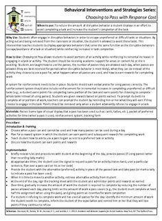Intervention for students who refuse to do work or act out to avoid certain types of work.  Coach Card available: http://www.hdc.lsuhsc.edu/tiers/pdf/Individual%20Interventions/Choosing%20to%20Pass%20Coaching%20Card.pdf
