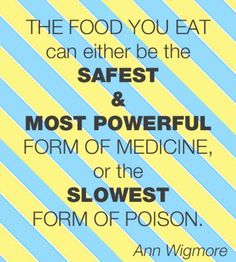 think before you eat!