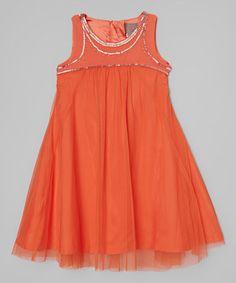 Love this Coral Laila Dress - Girls on #zulily! #zulilyfinds