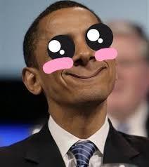 Image result for kawaii obama