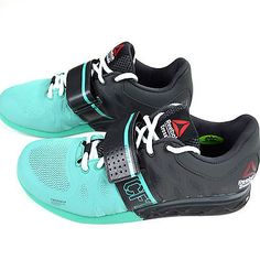 NEW Reebok CrossFit Lifter 2.0 Women's Powerlifting Shoes Gray Teal Black M40702