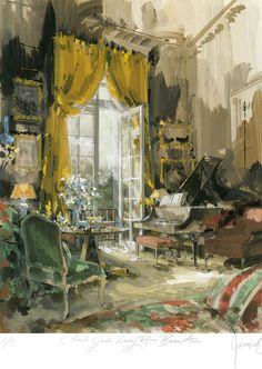 Interior - Jeremiah Goodman - Rendering of Claude Guidi Buenos Aires Living Room