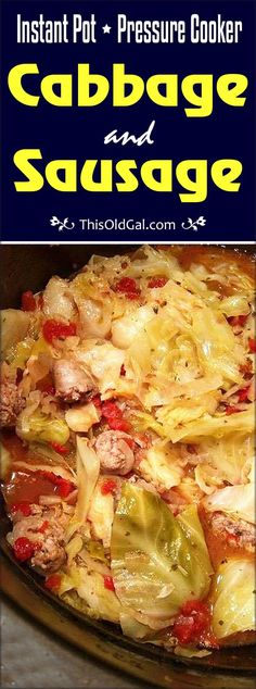 Pressure Cooker Cabbage and Sausage is a lean and healthy meal that will be on your table in less than 30 minutes. via paleo dinner cabbage Pressure Cooker Cabbage, Instant Pot Pressure Cooker, Pressure Cooker Recipes, Pressure Cooking, Instant Cooker, Power Pressure Cooker, Pressure Pot, Healthy Low Carb Recipes, Low Carb Dinner Recipes