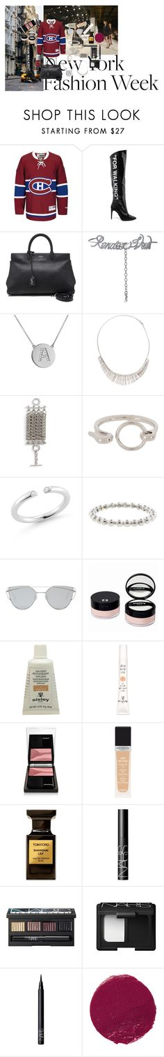 """""""New York Fashion Week: Concrete Runway"""" by atho-12345 ❤ liked on Polyvore featuring Off-White, Yves Saint Laurent, Jennifer Meyer Jewelry, Balenciaga, Alexander Wang, Elizabeth and James, Gentle Monster, Sisley, Tom Ford and NARS Cosmetics"""