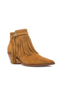 Image 2 of Sigerson Morrison Lena Suede Booties in Caramel