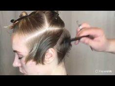 How to Color & Highlight Hair Hair Cutting Videos, Hair Cutting Techniques, Hair Color Techniques, Corte Pixie, Pelo Pixie, Short Hair Cuts, Short Hair Styles, I Like Your Hair, Men Hair Color