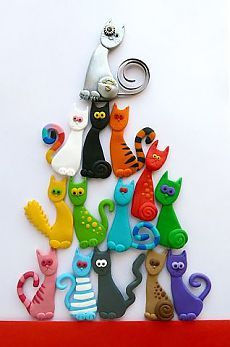 """Category """"Do It Yourself Crafts"""" @ DIY Home Crafts more for DIY on . - Kerstin - Crafts world Polymer Clay Cat, Polymer Clay Kunst, Polymer Clay Animals, Polymer Clay Projects, Polymer Clay Creations, Polymer Clay Jewelry, Plastic Fou, Clay Cats, Do It Yourself Crafts"""