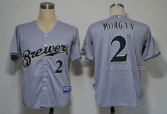 http://www.xjersey.com/milwaukee-brewers-2-morgan-grey-cool-base-jerseys.html Only$34.00 MILWAUKEE BREWERS 2 MORGAN GREY COOL BASE JERSEYS #Free #Shipping!