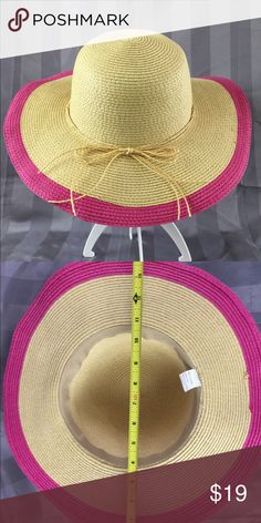 Tan & pink hat Spring is on the way.  This hat is perfect for sunny days.  Great condition. 🌸 Other