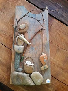 Stone Crafts, Rock Crafts, Diy Arts And Crafts, Beach Rocks Crafts, Stone Pictures Pebble Art, Stone Art, Driftwood Crafts, Seashell Crafts, Beach Rock Art