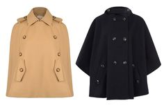 Must-Have Capes: From left: Michael Michael Kors, $527, flannels.com; Sessùn, $328, liberty.com. #InStyle