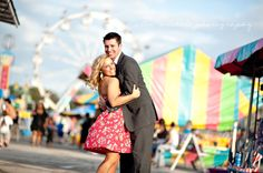Love this fun carnival engagement shoot  from Alex Michele Photography! <3<3<3