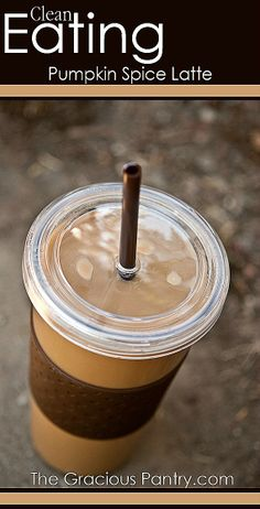 Clean Eating Pumpkin Spice Latte. You'll never need Starbucks again!  #CleanEatingRecipes