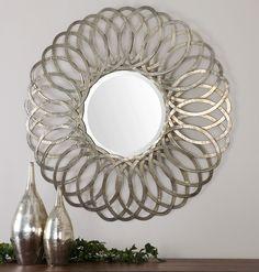 Adler Metal Round Mirror