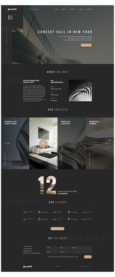 #ask #me #my #top #3 #template #black #askmemytop3templateblack go.arch is a luxury, elegant and trendy #PSD template designed in two color styles Banner Web Design, Layout Design, Design Café, Design Food, Website Design Layout, Web Ui Design, Web Layout, Home Design, Flat Design