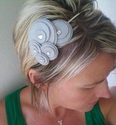 Flower Headband...felt...Five Flower Cluster Headband by NoPlainTs