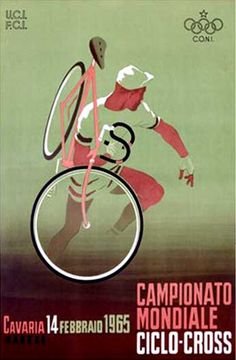 Campionato Mondiale, Ciclo, 1965 Vintage Bicycling Giclee Art Print.