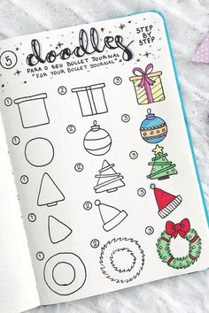 Best Bullet Journal Christmas Doodle Ideas For 2019 Crazy L.-Best Bullet Journal Christmas Doodle Ideas For 2019 Crazy Laura Best Bullet Journal Christmas Doodle Ideas For 2019 Crazy Laura - Bullet Journal Christmas, December Bullet Journal, Bullet Journal Notebook, Bullet Journal Lettering Ideas, Bullet Journal Ideas Pages, Bullet Journal Inspiration, Journal Prompts, Christmas Doodles, Christmas Drawing