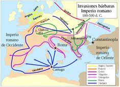Las principales invasiones de los bárbaros. Quinientos años de conflicto que acabaron con la disolución del mayor imperio jamás conocido.
