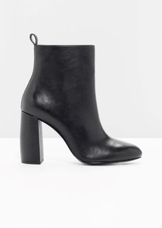 & Other Stories | Sculpture Heel Leather Boots