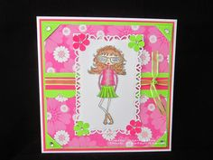 Well Hello Shirley - created with the  fashionette range from Bee Crafty
