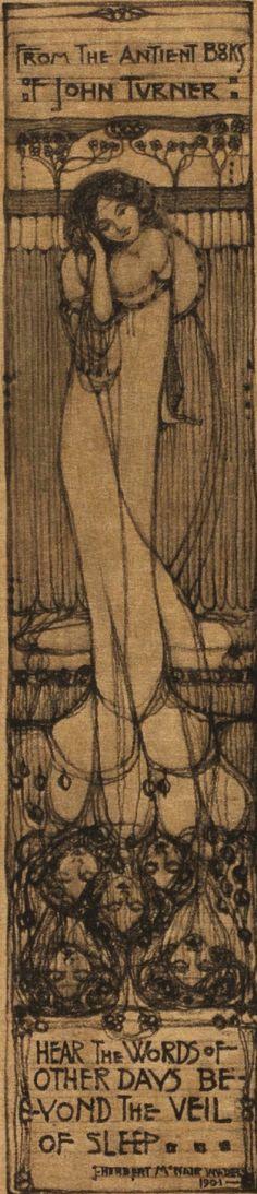 ≡ Bookplate Estate ≡ vintage ex libris labels︱artful book plates - James Herbert McNair (Scottish, 1868-1955)