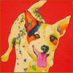 Australian Cattle Dog by Marion Morrison. Dog done in Pop Art style...I love it!