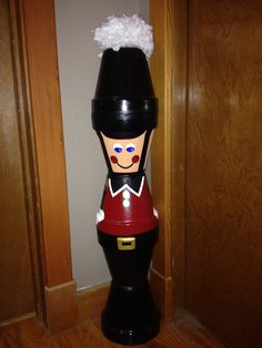 A Nutcracker that i made out of flower pots