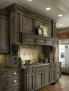 Gray Cabinets Staining Kitchen