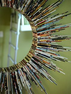 10 Diy Cool Mirror Ideas Summer colors and interesting design can be created at home. Just use your old magazines and your imagination, no limits just inspiration. Retrieved from:http://www.architectureartdesigns.com/10-diy-cool-mirror-ideas/