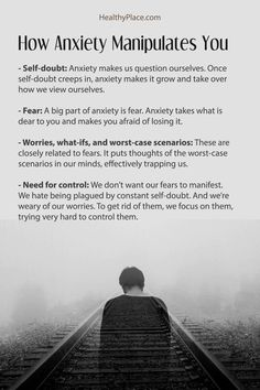There are common ways that anxiety manipulates you and causes symptoms. Anxiety tries to control your life by manipulating you with these four tactics. Anxiety Facts, Health Anxiety, Anxiety Tips, Anxiety Help, Stress And Anxiety, Quotes About Anxiety, Depression And Anxiety Quotes, Writing Tips, Mental Health