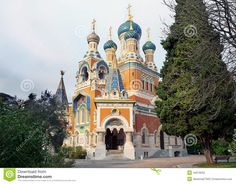 Russian orthodox cathedral of the Moscow patriarchate in Nice, France.