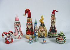 folk art miniatures | Folk Art Miniature Santa Claus Doll House Primitives | Flickr - Photo ...