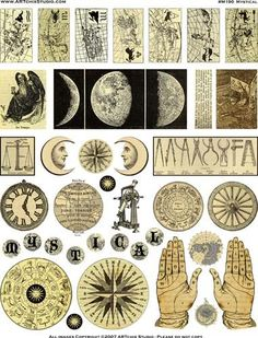 Mystical Image Sheet from http://ArtChixStudio.com For superstition mirror