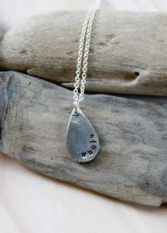pewter raindrop . a personalized soul mantra by lizlamoreux