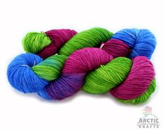 Summer Refreshment hand dyed 75/25 superwash by Arctickrafts