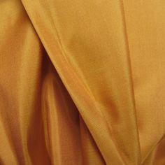 A crisp and lightweight ahimsa (peace silk) Eco taffeta. Breathtakingly rich, golden mustard, almost sunflower, Silk Taffeta, Draping, Soft Furnishings, Mustard Yellow, Cambodia, Crisp, Weave, Hand Weaving, Table Settings