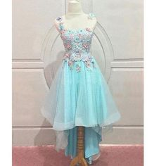 Blue Prom Dress,Lace Homecoming Dress, Cheap Homecoming