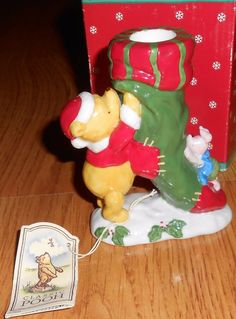 Disney Classic Winnie the Pooh Taper Candle holder Piglet  Xmas Holiday Midwest