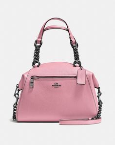 Edgy hardware meets plump pebble leather on the Chain Prairie satchel. A great day-to-night silhouette, this versatile bag has a removable strap for shoulder or crossbody wear. Coach Satchel, Satchel Purse, Satchel Handbags, Handbags Michael Kors, Coach Handbags, Leather Satchel, Pebbled Leather, Coach Bags, Leather Handbags