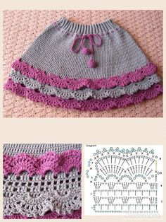 Best 11 Baby Knitting Patterns Skirt crochet children& skirt with diagrams: 26 thousand .Image gallery – Page 474637248226284631 – Artofitcute lace skirt- would probably want to line with fabric – SkillOfKing. Crochet Skirts, Crochet Fabric, Crochet Blouse, Crochet Stitches Patterns, Baby Knitting Patterns, Baby Patterns, Baby Afghan Crochet, Crochet Dishcloths, Diy Crafts Knitting