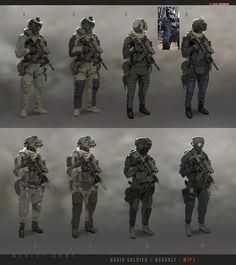 Canceled project soldier conceps by sobaku-chiuchiu - Pavel Savchuk - CGHUB Futuristic Armour, Futuristic Art, Character Concept, Character Art, Character Design, Armes Concept, Gi Joe, Gundam, Nova Era