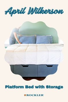 Rockler partnered with April Wilkerson on this platform bed build with storage! Watch her video on the bed here.  #createwithconfidence #aprilwilkerson #wilkerdos #platformbed #storage