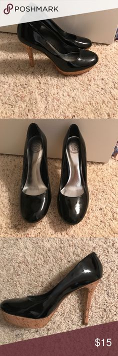 Jessica Simpson Patent Leather Heels with Cork Jessica Simpson Patent Leather Heels with Cork Jessica Simpson Shoes Heels
