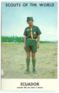 #1968 #Boy #Scouts of the #World #Ecuador #Vintage #Chrome #Postcard #Ephemera #evt #1960s by OakwoodView