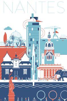 Art Deco Posters, Vintage Posters, Machine Logo, Tattoo Machine, Poster City, Images Vintage, Tattoo Photography, City Painting, Ville France