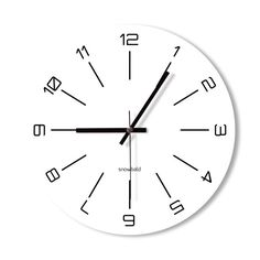 Wall Clock black and white clock home decoration wall by Snowbald