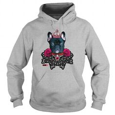 French Bulldog black King lace collar Roses Dog De  Mens Premium TShirt