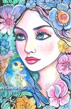 Fantasy Woman Face   EvitaWorks