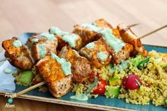 Why not try this Low Syn Cumin Dusted Salmon Skewers with Moroccan Style Cous Cous? The perfect Slimming World dinner, it& so quick and easy! Slimming Eats, Slimming World Recipes, Slimming World Syns, Salmon Recipes, Fish Recipes, Skewer Recipes, Prawn Recipes, Seafood Recipes, Dinner Recipes